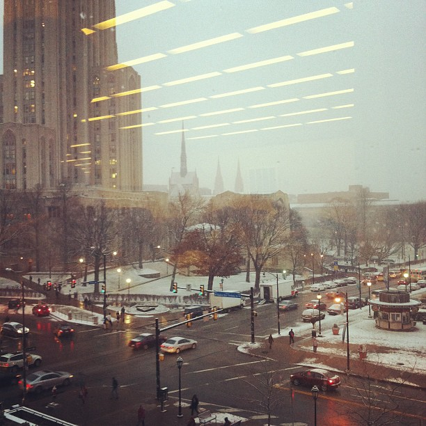 Snow in Pittsburgh